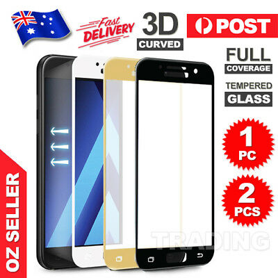 AU4.95 • Buy Full Tempered Glass Screen Protector For Samsung Galaxy A5 A7 2017 J5 J7 Pro