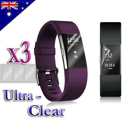 AU2.85 • Buy 3x/6x/9x For Fitbit Charge 2 Compact TPU Hardness LCD Screen Protector Real Film