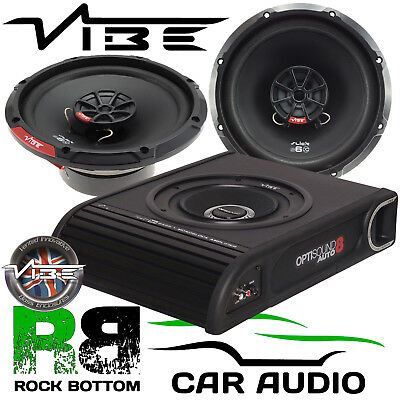 Ford Transit Custom 2012 On Vibe 900W Underseat Sub & Front Door Car Speaker Kit • 179£