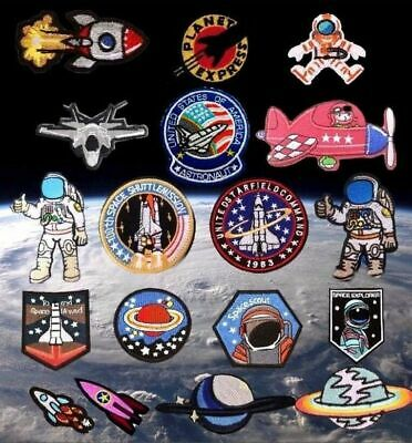 Astronaut NASA Space Rocket Planet Embroidered Logo Patch Badge Iron On / Sew  • 2.79£