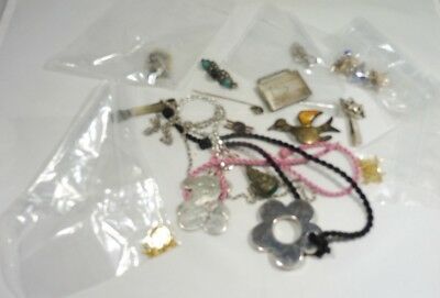 $ CDN246.79 • Buy Lot Of Mostly Sterling Silver Jewelry And Oddities 4.5 Troy Ounces