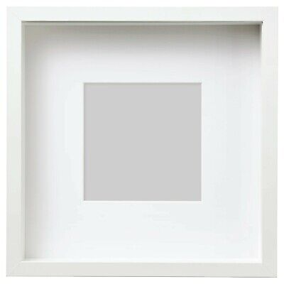 £11.50 • Buy New Square Deep Shadow Box Photo Picture Frame White 25x25cm Scrabble Display 3D