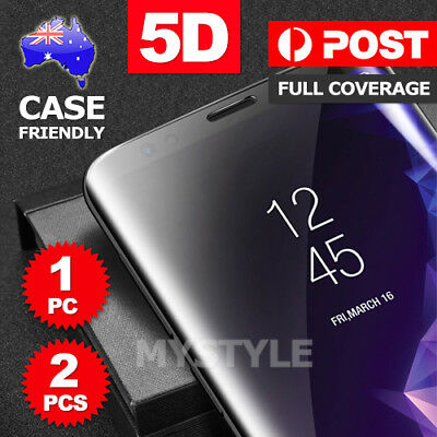 AU5.95 • Buy Galaxy S9 S8 Plus Note 8 5D Full Tempered Glass Screen Protector For Samsung AU