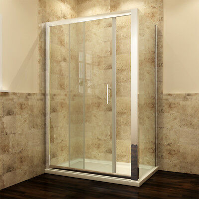 £377.99 • Buy Sliding Shower Enclosure With Tray & Free Waste & Side Panel Glass Door Cubicle
