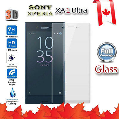 $ CDN5.99 • Buy Full Coverage 3D Tempered Glass Screen Protector For Sony Xperia XA1 Ultra