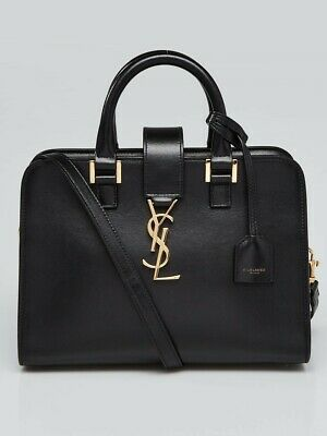 AU1999 • Buy Preowned -  Yves Saint Laurent Baby Cabas Black Leather Bag