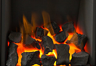 New Living Flame COAL Effect Gas Fire TAPERED Inset Fire Tray Choice Of 3 16   • 140£