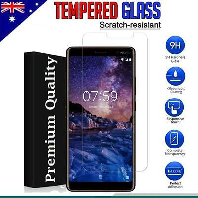 AU4.99 • Buy Tempered Glass LCD Screen Protector Film Guard For Nokia 7 Plus