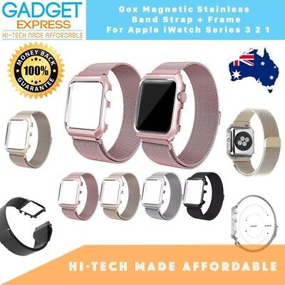 AU26.34 • Buy  Magnetic Mesh Stainless Band + Frame For Apple Watch 3 2 1 38/42mm