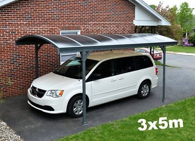 £2225.04 • Buy Heavy Duty Car Shed Garage Canopy Outdoor Carport Structure Steel Curved Roof