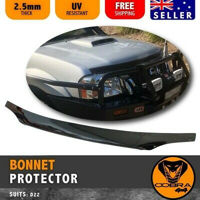 AU89 • Buy BONNET PROTECTOR Fits NAVARA D22 2002 TO 2015 INJECTION MOULDED 4WD BLACK TINTED