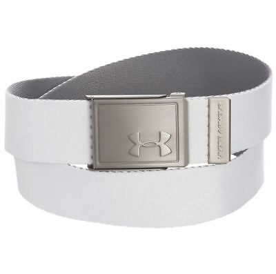 $16.27 • Buy Under Armour Boy's UA Golf Solid Web Belt White Gray Reversible OSFA Webbing
