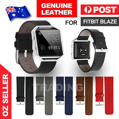 AU5.85 • Buy Genuine Replacement Leather Band Wrist Strap Watchband For Fitbit Blaze Watch AU