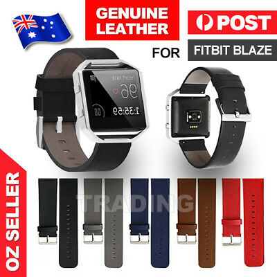 AU7.85 • Buy Genuine Replacement Leather Band Wrist Strap Watchband For Fitbit Blaze Watch AU