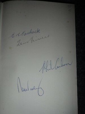 AU40 • Buy Cricket Book Signed By Ern Toshack And 3 Other Test Match Players