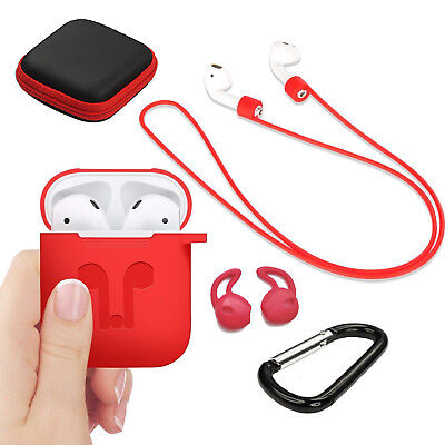 $ CDN14.88 • Buy Silicone Cover Skin Case Earphone Anti Lost Strap For Apple Airpods Accessories
