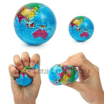 AU6.53 • Buy World Map Earth Globe Ball Squishies Squeeze Relief Palm Foam Play Toy Charms