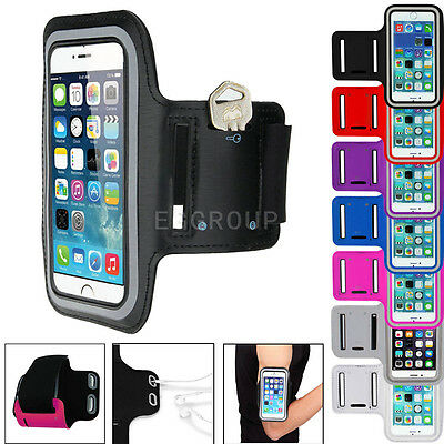 Gym Running Jogging Arm Band Sports Armband Case Holder Strap For Mobile Phones • 2.45£