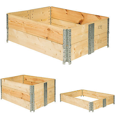 Raised Vegetable Garden Bed Frame Foldable Planter Grow Gardening 120x80x19 Cm • 38.99£