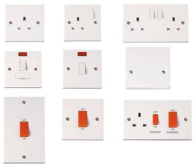 £4.99 • Buy Polar 13A 20A 45A Switched Socket Outlet Cooker Plate Fused Spur With Neon White