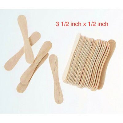 Wooden Craft Sticks Spoon 3.5 X1/2  Popsicle Stick - 100 Pack  • 3.99$