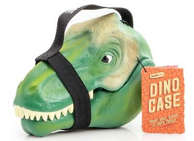 Lunch Box Case Storage Tub Plastic Food Holder & Handle Dino Green  - T-Rex • 20£