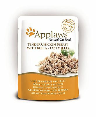 Applaws Cat Pouch - Chicken & Beef In Jelly - 16 X 70g • 23.06£