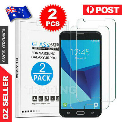 AU3.95 • Buy 2x For Samsung Galaxy J3 J5 J7 Pro 2017 Tempered Glass Plastic Screen Protector