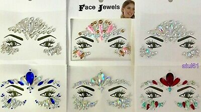 £3.49 • Buy Face Body Gems Stick On Adhesive Jewel Tattoo Wedding Festival Rave Party Makeup