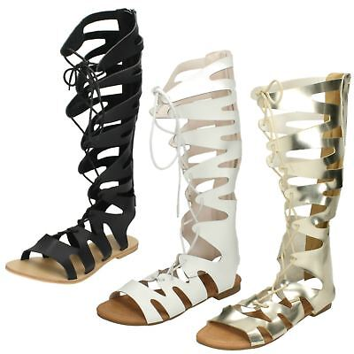 Ladies Spot On Lace Up Gladiator Sandals • 5.99£
