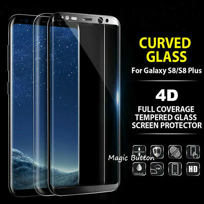 AU6.93 • Buy For Galaxy S8 S8+ Plus 4D Tempered Glass Full Cover Screen Protector