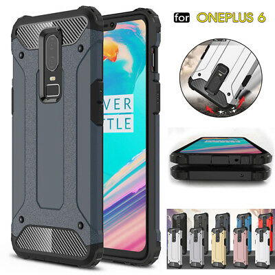 AU4.88 • Buy For OnePlus 6 Shockproof Hybrid Rugged Soft TPU Bumper Protective Case Cover