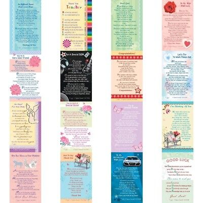 Keepsake Wallet Card Sentimental Verse Family Gift Birthday Present Cards Love💕 • 2.59£