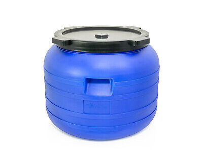 Plastic Barrel 100L With LID HDPE Water Storage Container Drum Keg Food Grade  • 16.14£