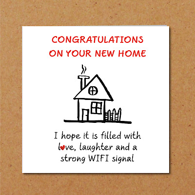 New Home Card / New House Card - Congratulations Funny Humorous  • 2.95£