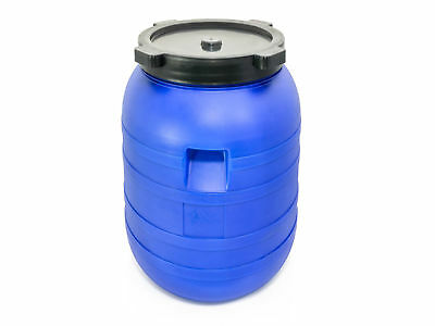 Plastic Barrel 200L With LID HDPE Water Storage Container Drum Keg Food Grade  • 25.64£