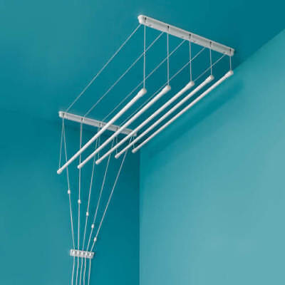 £205.29 • Buy Ceiling Clothes Dryer Laundry Pulley Airer Space Rack 6 Rods Traditional White