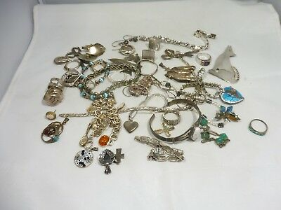 $ CDN423.06 • Buy Mixed Lot Of Vintage Sterling Silver Jewelry