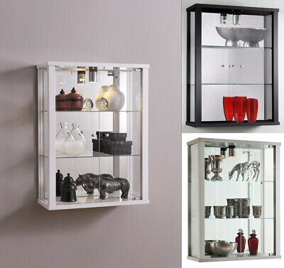 Glass Display Cabinet Wall Mounted Vitrine Toys Vapes Various Colours And Light • 99.99£