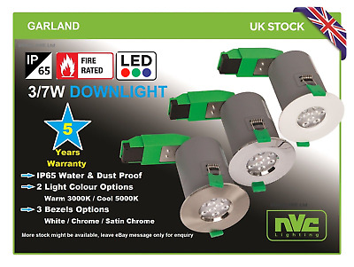 NVC End Line Products IP65 Recessed Downlights  3/7W LED Garland • 6.99£