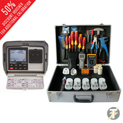 £760 • Buy Megger PAT150R Hand Held Mains Powered Portable Appliance PAT Tester With PBK101