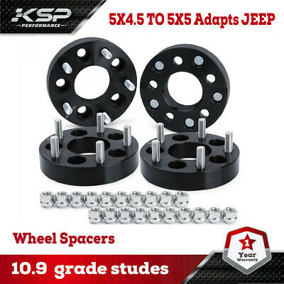 $78.99 • Buy 4 Wheel Adapters 5x4.5 To 5x5 1.25  Adapts Jeep Cj Wheels On Tj Mj Yj Kk Sj Xj