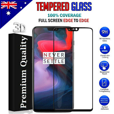 AU4.49 • Buy 3D EDGE Full Coverage Tempered Glass Screen Protector Film Guard For OnePlus 6