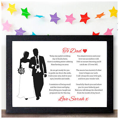 £4.95 • Buy Personalised Father Of The Bride Keepsake Poem Father Of The Bride Dad Gifts