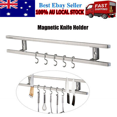 AU21.84 • Buy Stainless Steel Magnetic Knife Holder Storage Strip Kitchen Tool Utensil Rack AU