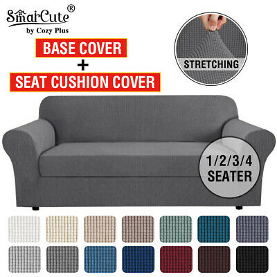 AU18.62 • Buy 2 Pieces Stretch Sofa Covers Couch Covers Sofa Slip Covers Form Fit 1/2/3 Seater