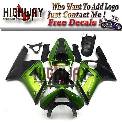 $470.99 • Buy Fairings For Kawasaki  ZX-6R 636 03 2004 ABS Kit Bodywork Pearl Green Black