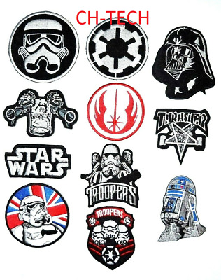 Embroidered STAR WARS MOVIE CARTOON Collection Mix Iron/sew On Badges Patches • 1.79£