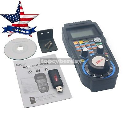 $113.45 • Buy 4-Axis CNC MACH3 Wireless Electronic Manual Controller USB Handle MPG #US Ship