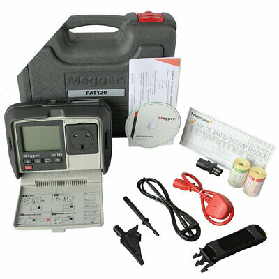 £451.99 • Buy Megger PAT120 Hand Held Battery Operated Appliance PAT Tester W/ Extras KIT5L